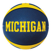 Baden Michigan Wolverines Rubber Basketball (Official Size and Weight)