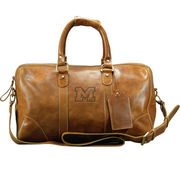 Carolina Sewn University of Michigan Westbridge Leather Duffel Bag