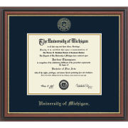 University of Michigan Diploma Frame: Embossed Regency Gold [Bach/Master]