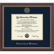 University of Michigan Diploma Frame: Embossed Regency Gold [PhD]