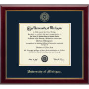 University of Michigan Diploma Frame: Embossed Gallery [PhD]