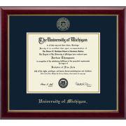 University of Michigan Diploma Frame: Embossed Gallery [PhD]