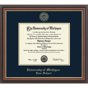 University of Michigan Diploma Frame: Embossed Regency Gold [Law]