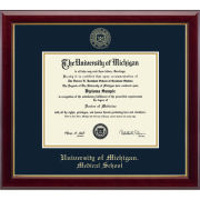 University of Michigan Diploma Frame: Embossed Gallery [Medical]