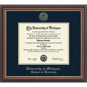 University of Michigan Diploma Frames: Embossed Regency Gold [Dental]