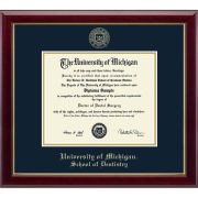 University of Michigan Diploma Frame: Embossed Gallery [Dental]