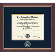 University of Michigan Diploma Frame: Kensington Gold [Medical]