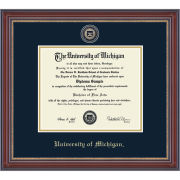 University of Michigan Diploma Frame: Masterpiece Medallion [Bach/Masters]