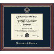 University of Michigan Diploma Frame: Masterpiece Medallion [Bach/Masters]