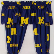 College Covers University of Michigan 63 Window Curtain