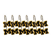 Northwest University of Michigan Shower Curtain Rings