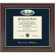 University of Michigan Diploma Frame: Eglomise Burton Tower [Bach/Masters]