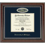 University of Michigan Diploma Frame: Eglomise Stadium [Bach/Masters]