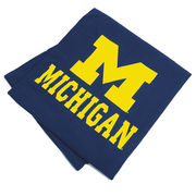 Cotton Exchange University of Michigan Navy Sweatshirt Fleece Blanket