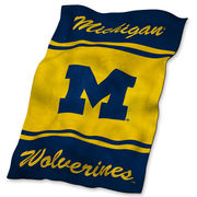Logo University of Michigan Ultrasoft Fleece Blanket