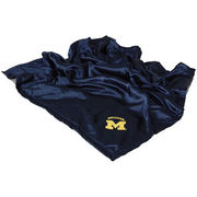 Comfy Feet University of Michigan Silky Navy Baby Blanket