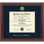 University of Michigan Diploma Frame: Engraved Signature [Bach/Masters]