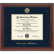 University of Michigan Diploma Frame: Engraved Signature [PhD]