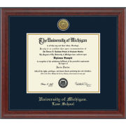 University of Michigan Diploma Frames: Engraved Signature [Law]