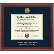 University of Michigan Diploma Frame: Engraved Signature [Dental]