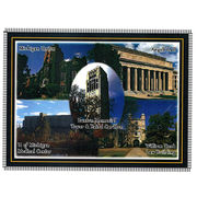 Boxercraft University of Michigan Campus Scenes Throw Blanket