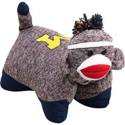 Plushland University of Michigan Sock Monkey Pillow Pet