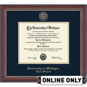 University of Michigan Diploma Frame: Masterpiece Medallion [Law School]<b><br>*AVAILABLE ONLINE ONLY*</b></br>