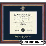University of Michigan Diploma Frame: Masterpiece Medallion [School of Dentistry]<b><br>*AVAILABLE ONLINE ONLY*</b></br>