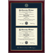 University of Michigan Diploma Frame: Embossed Gallery [Dual Bach/Masters]