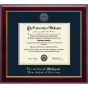 University of Michigan Diploma Frame: Embossed Gallery [Business]