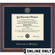 University of Michigan Diploma Frame: Masterpiece Medallion [PhD]<br><b> *AVAILABLE ONLINE ONLY*</b>