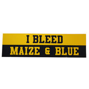 Pine University of Michigan I Bleed Maize & Blue Bumper Sticker