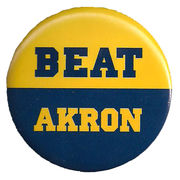 MCM University of Michigan Beat Akron Button