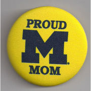 Legacy University of Michigan Proud Mom Button
