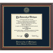 University of Michigan Diploma Frame: Embossed Regency Gold [Business]