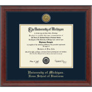 University of Michigan Diploma Frame: Engraved Signature [Business]