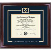 University of Michigan Diploma Frame: Church Hill Classics Spirit Encore [Bachelors/Masters]