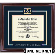 University of Michigan Diploma Frame: Church Hill Classics Spirit Encore [PhD]<br><b>*AVAILABLE ONLINE ONLY*</br></b>