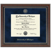 University of Michigan Diploma Frame: Church Hill Classics Regal Edition Diploma Frame [Bach/Masters]