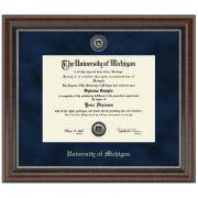 University of Michigan Diploma Frame: Church Hill Classics Regal Edition Diploma Frame [Bach/Masters]