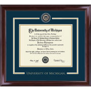 University of Michigan Diploma Frame: Showcase [Bach/Masters]