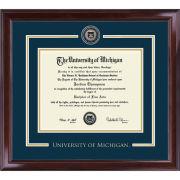 University of Michigan Diploma Frame: Showcase [Bach/Masters]