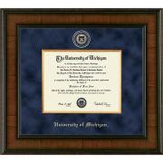 University of Michigan Diploma Frame: Presidential [Bach/Master]