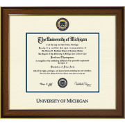 University of Michigan Diploma Frame: Westwood Medallion [Bach/Masters]