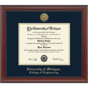 University of Michigan Diploma Frame: Engraved Signature [Engineering]