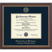 University of Michigan Diploma Frame: Embossed Regency Gold [Engineering]