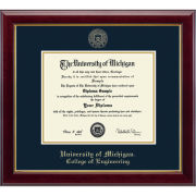 University of Michigan Diploma Frame: Embossed Gallery [Engineering]