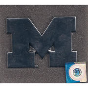 Elektroplate University of Michigan Block M Chrome Car Emblem