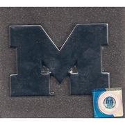 Elektroplate University of Michigan Block M Chrome Car Emblem
