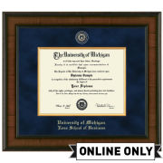 University of Michigan Diploma Frame: Presidential [Business]<br><b>*AVAILABLE ONLINE ONLY*</br></b>
